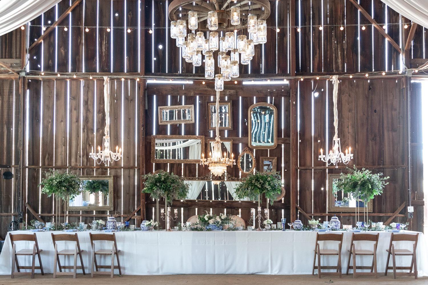 Beautiful vintage barn wedding