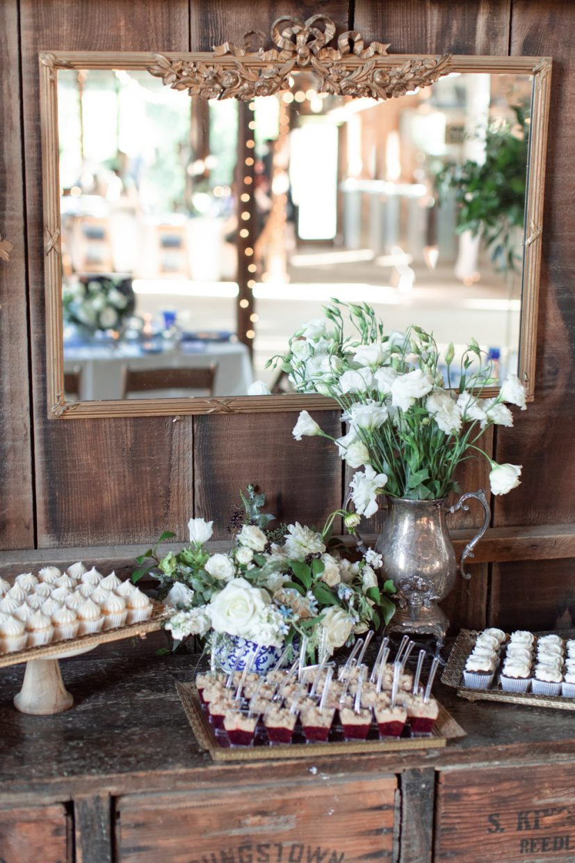 Desert bar exquisitely decorated by three 15 events