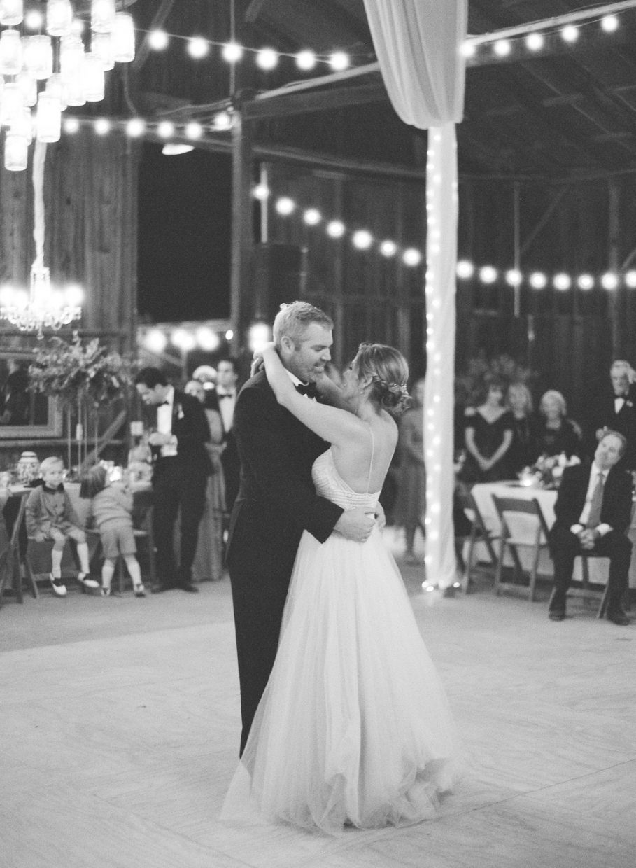 First Dance bride and groom Dana Powers House and Barn wedding on film