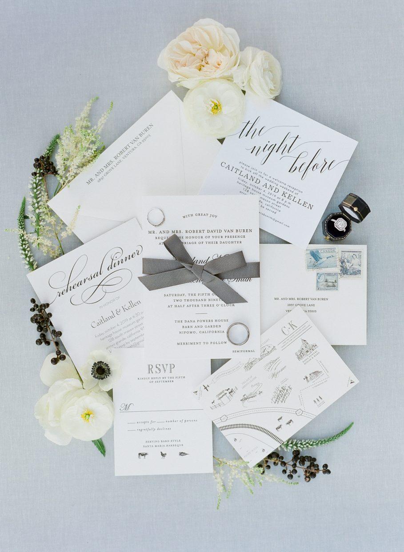 Dana Powers House and Barn wedding invitations
