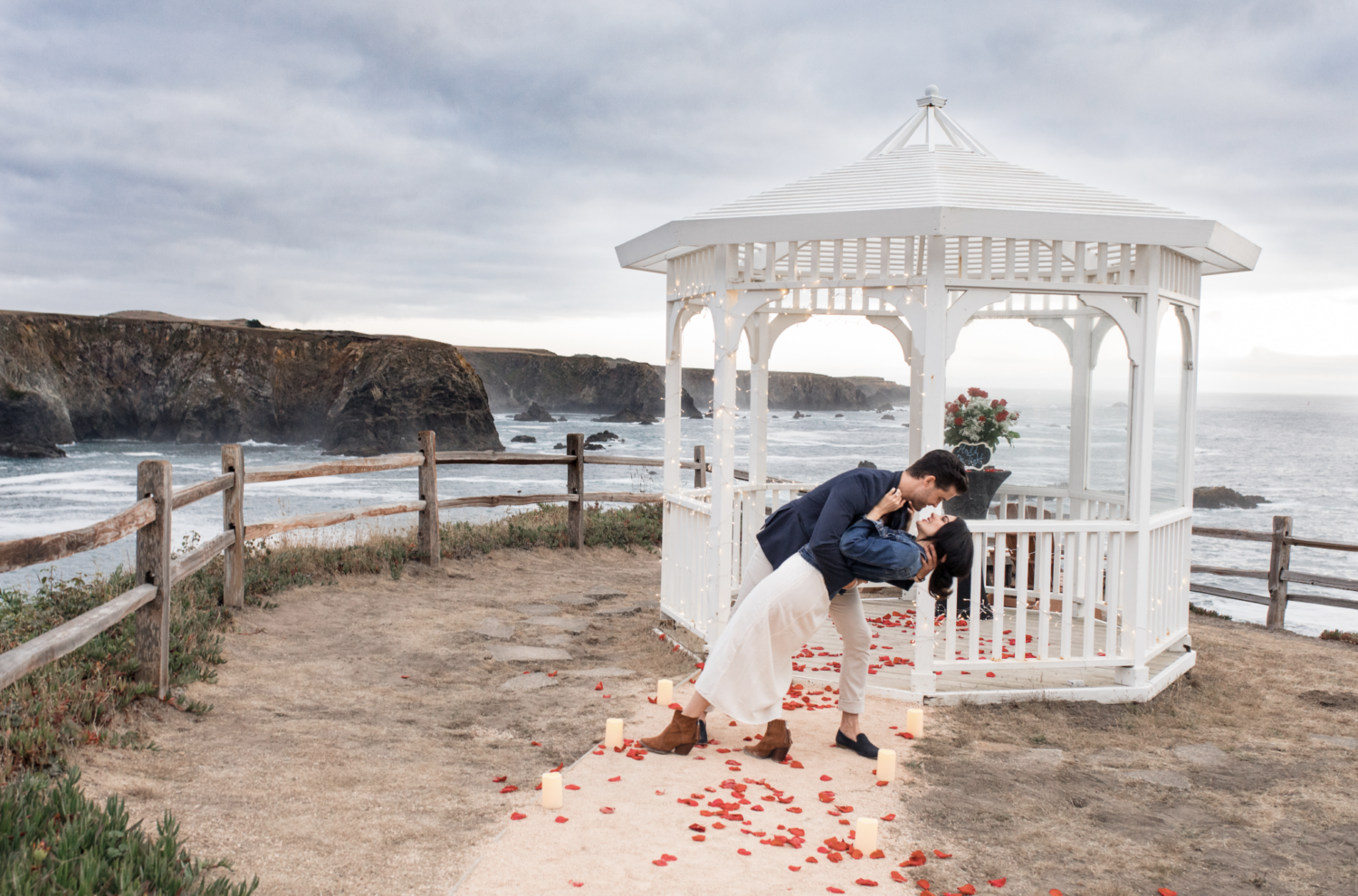 Wade Poezyn and Haley Scott engagement in Mendocino