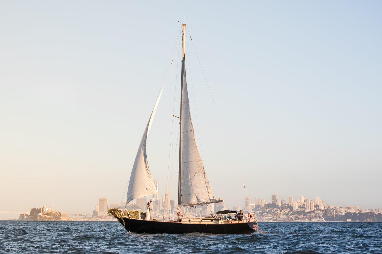 A Romantic Sailboat Elopement