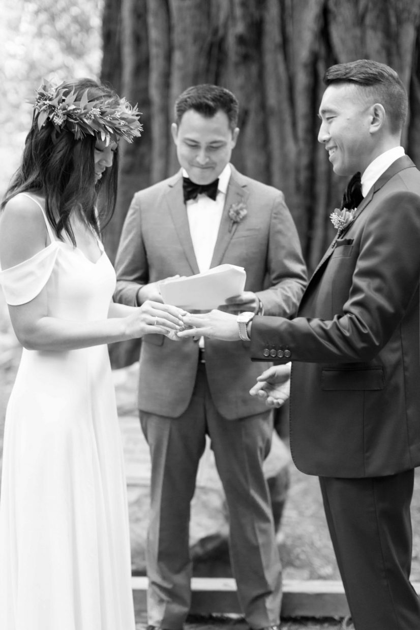 exchanging of rings lovingly