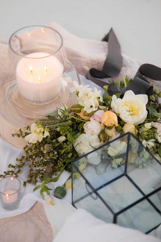 Design candles for wedding details shots