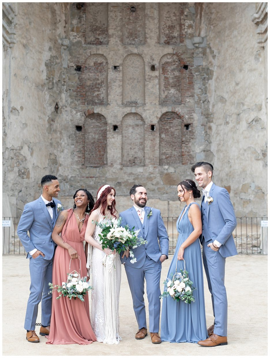 wedding party portraits for family and friends