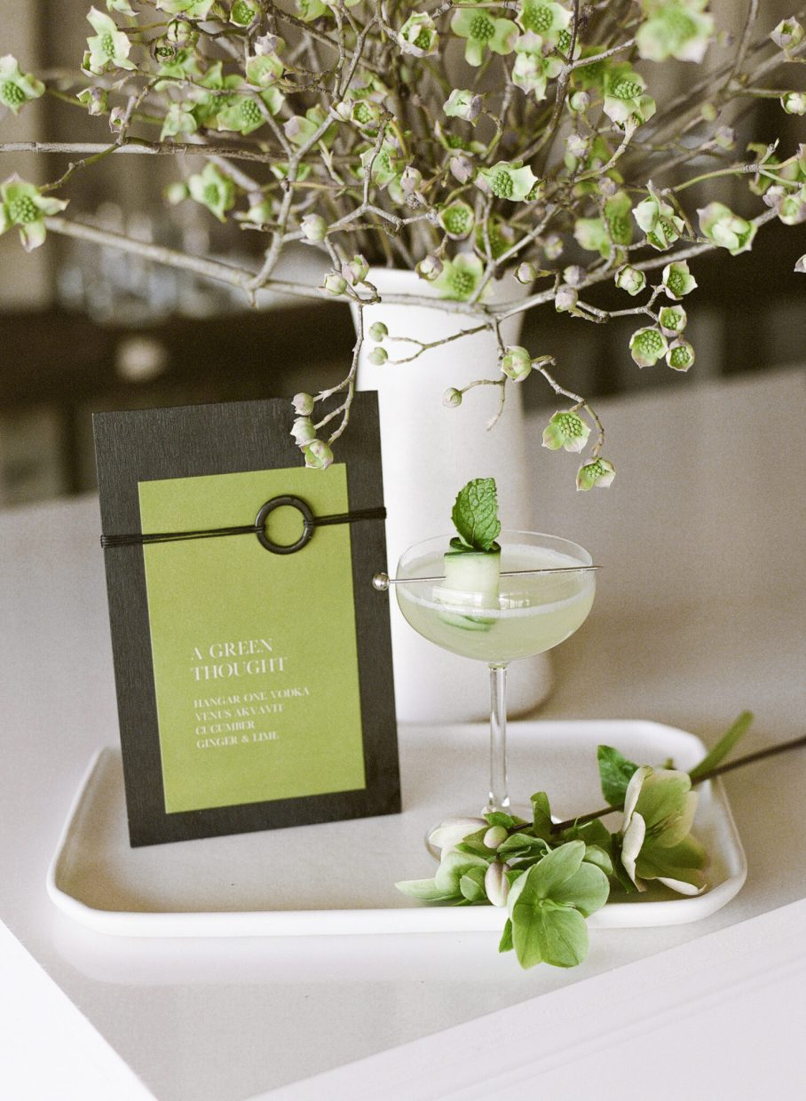 featured cocktail for a wedding