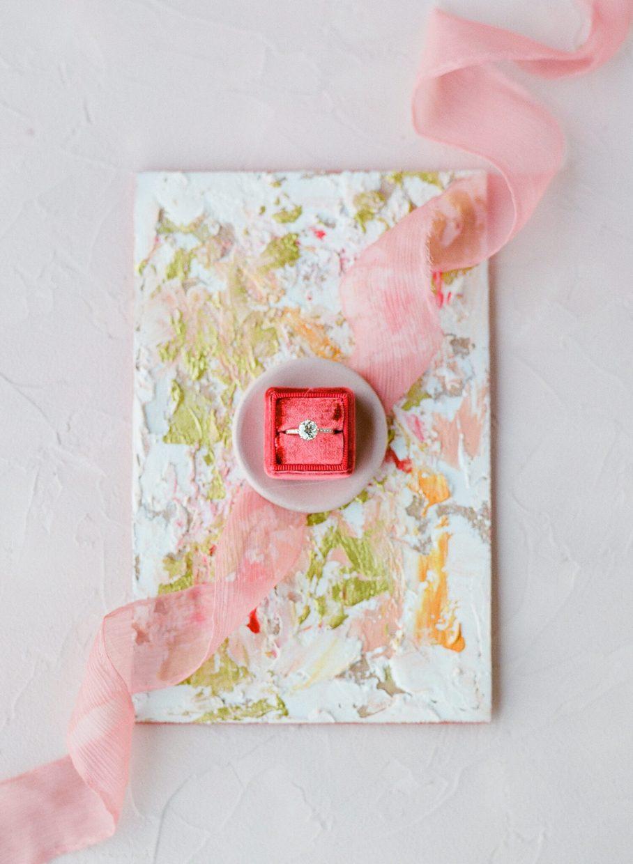 Rosé inspired wedding details