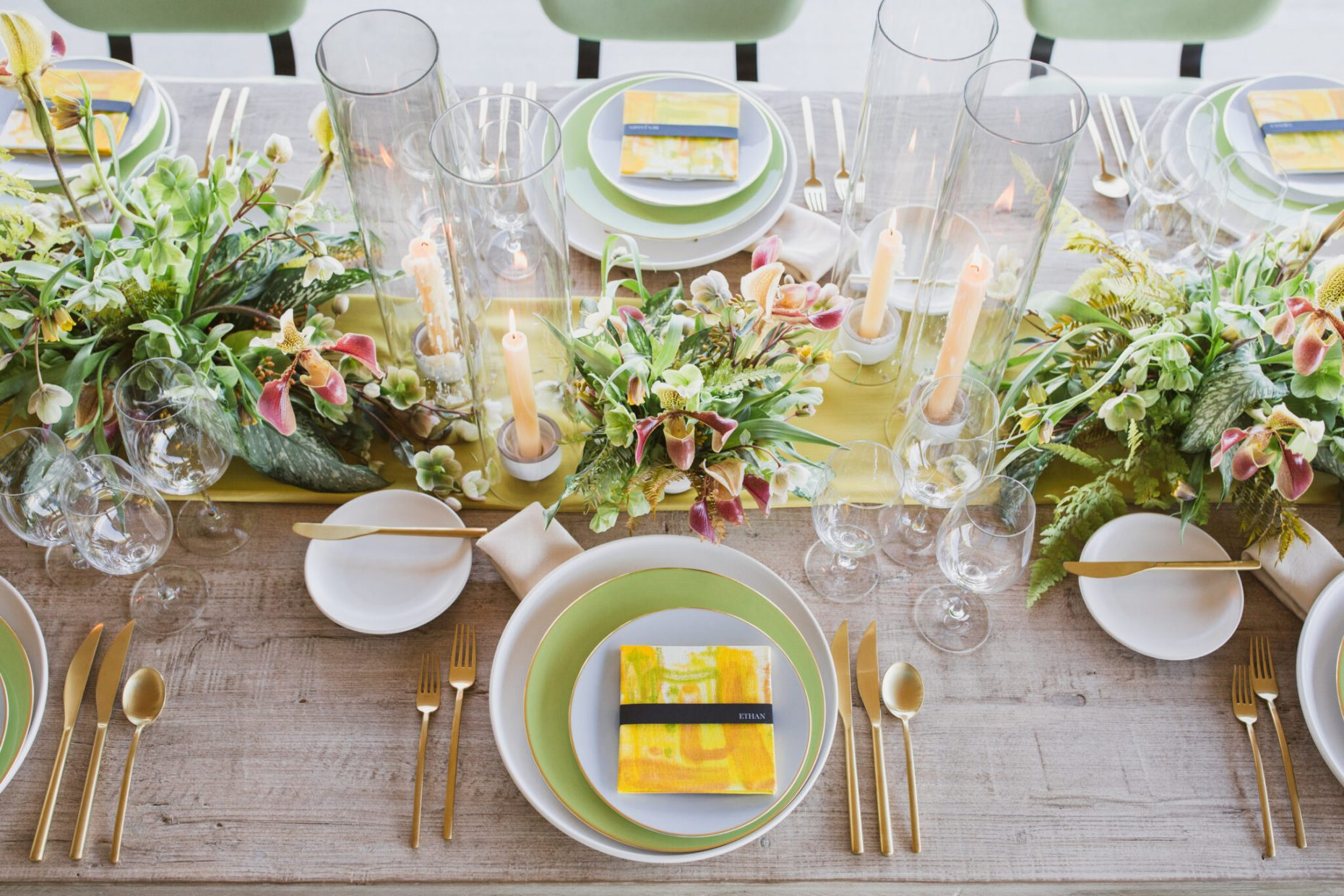 Kate Siegel events table setting inspiration