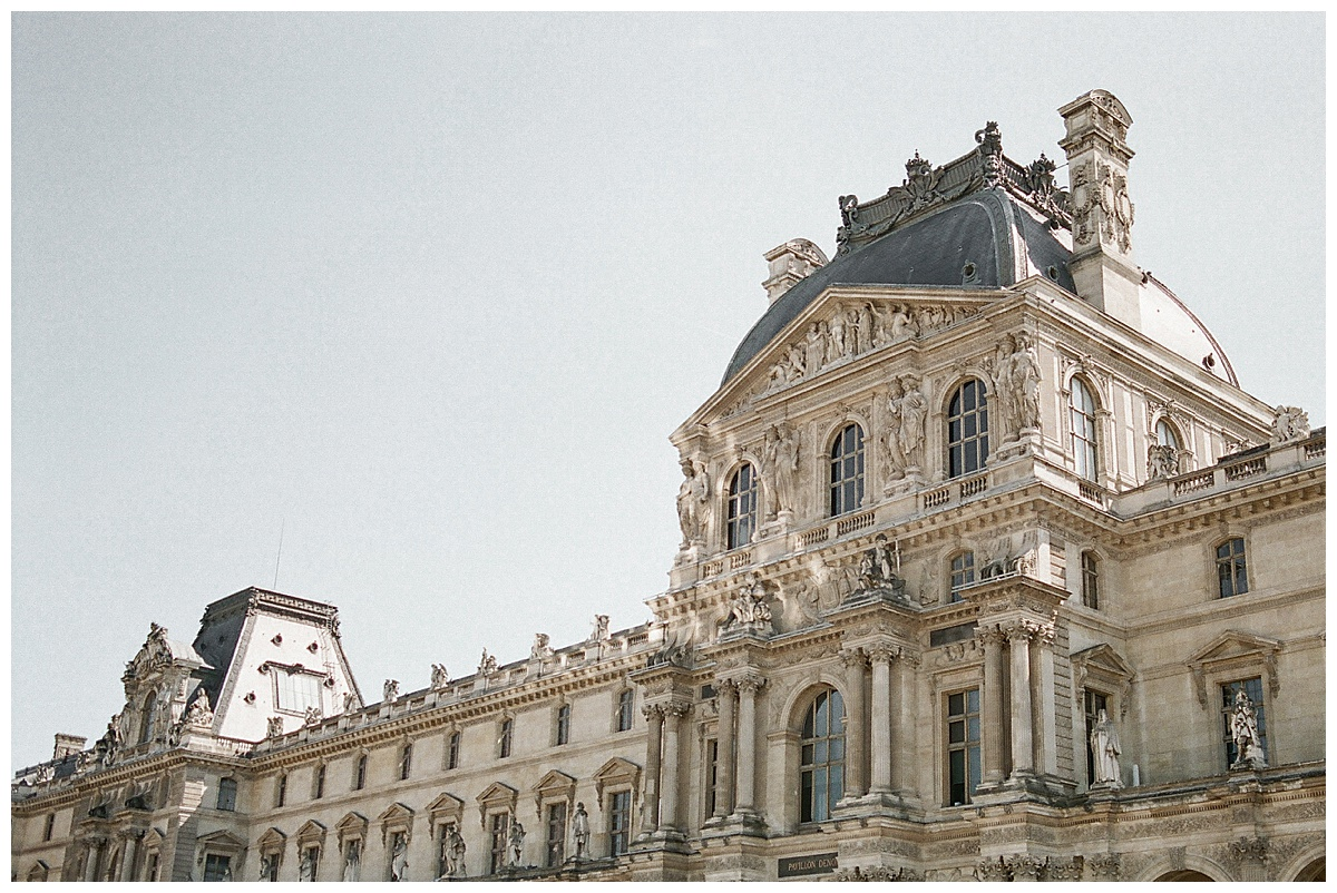 The Louvre in Paris wedding
