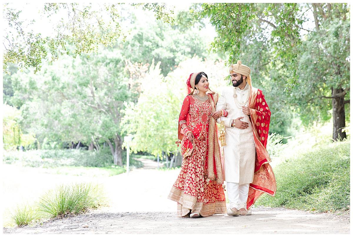 Punjabi wedding on film walking