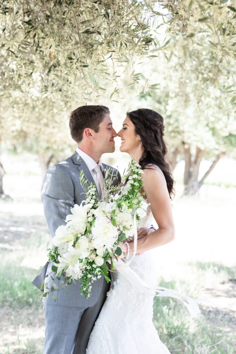 Wedding on a private estate vineyard