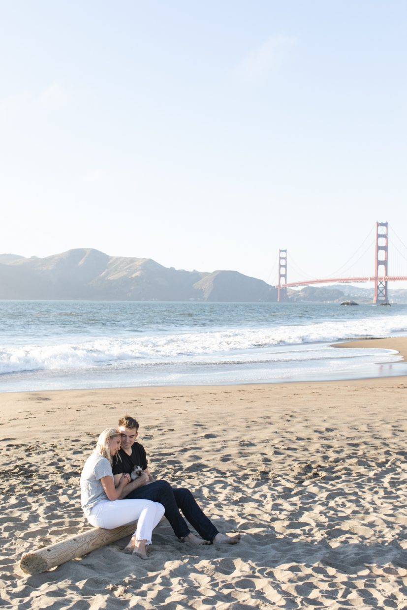 Blue Note Weddings Wedding Photography & Videography San Francisco Golden gate bridge engagement session