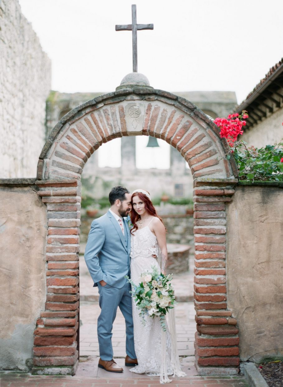 Wedding at the Old Mission San Juan Capistrano