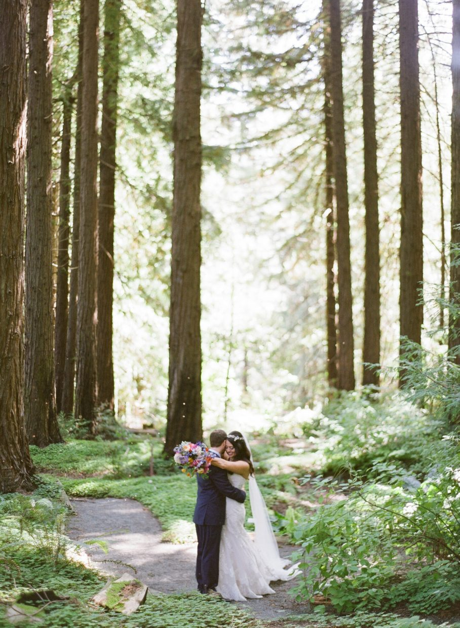 Getting married amongst the Redwood trees