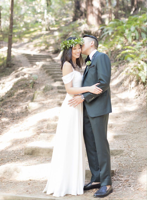 Muir Woods wedding in the redwood trees