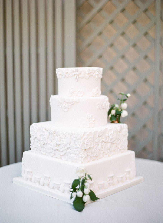 Parisian white wedding cake