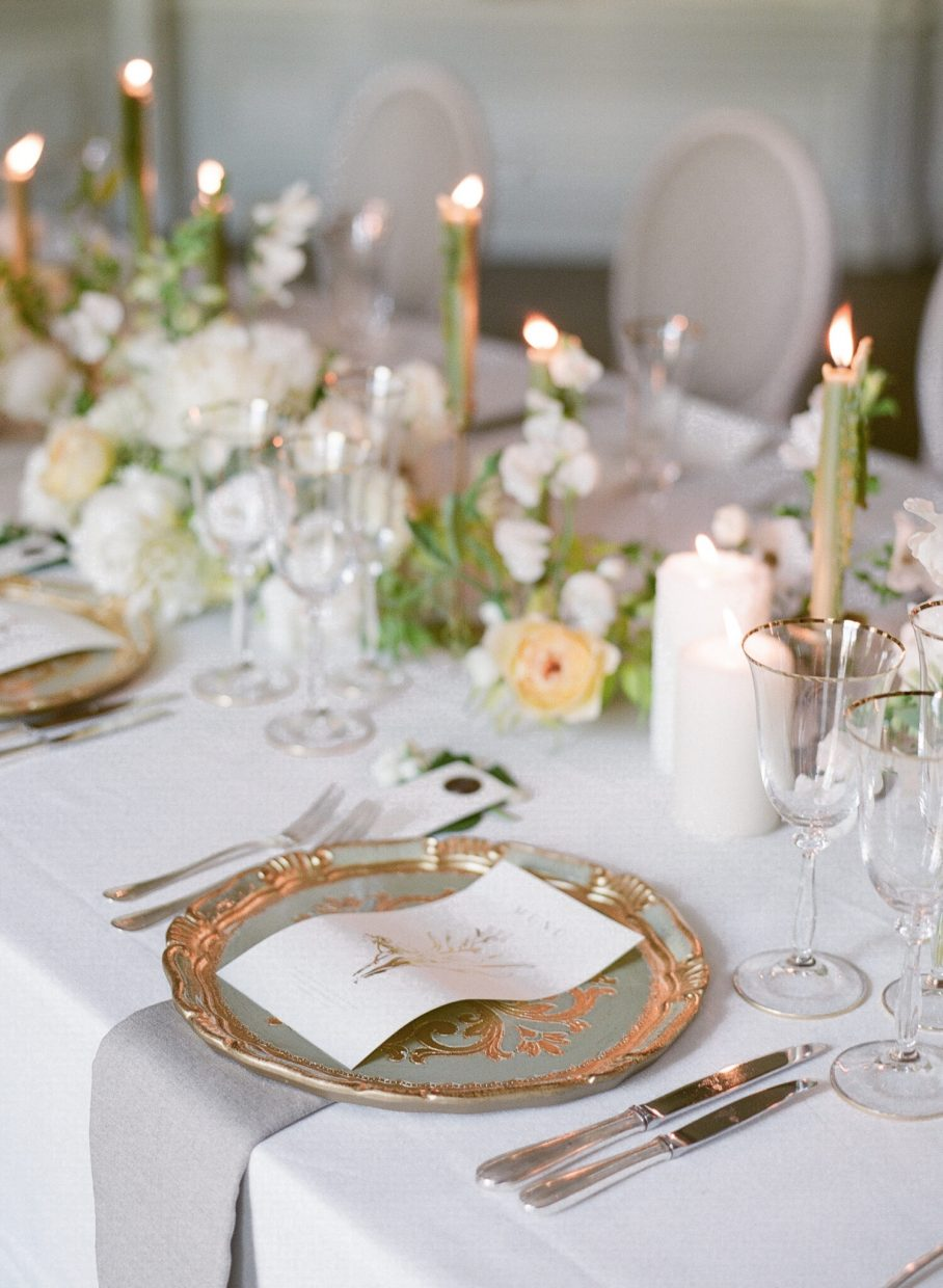 Exquisite table settings in Paris at the Ritz