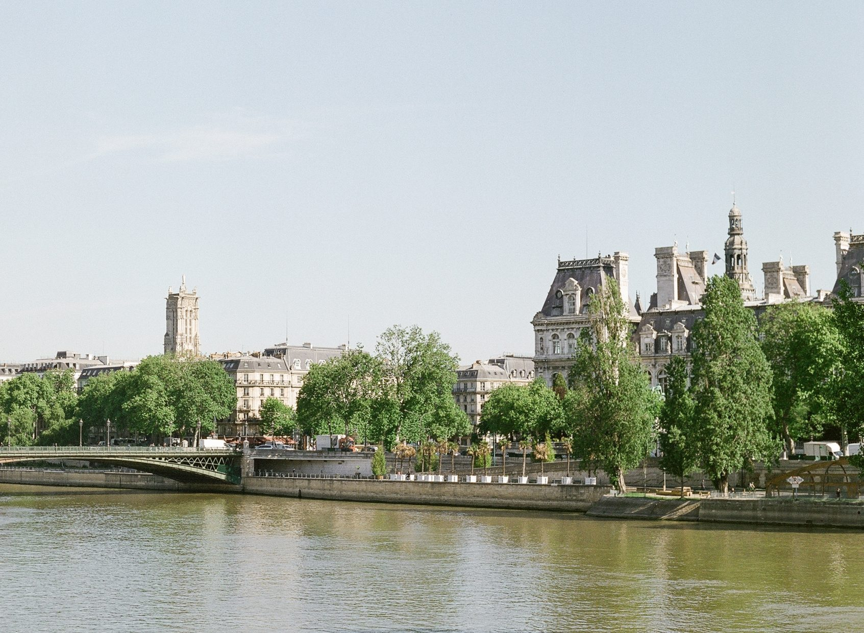Paris France city scape view
