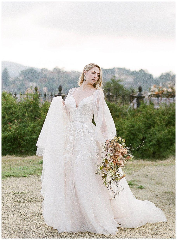 whimsical fairytale wedding elegant gown