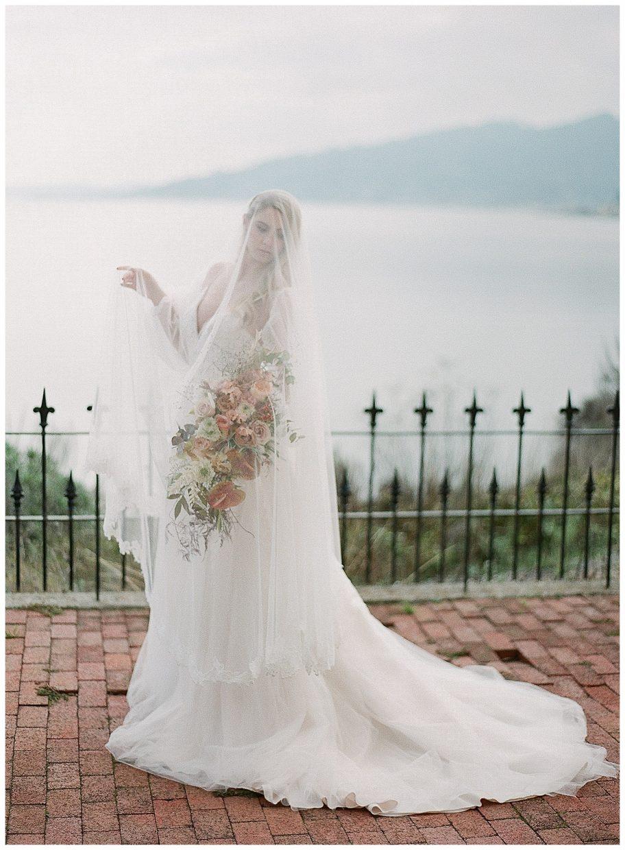 veil covering girls body
