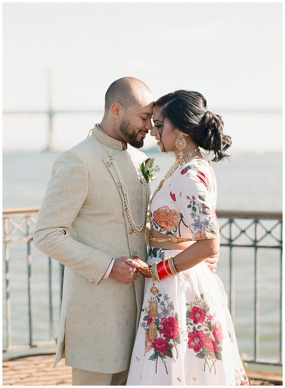 Pier 7 First look intimate wedding session