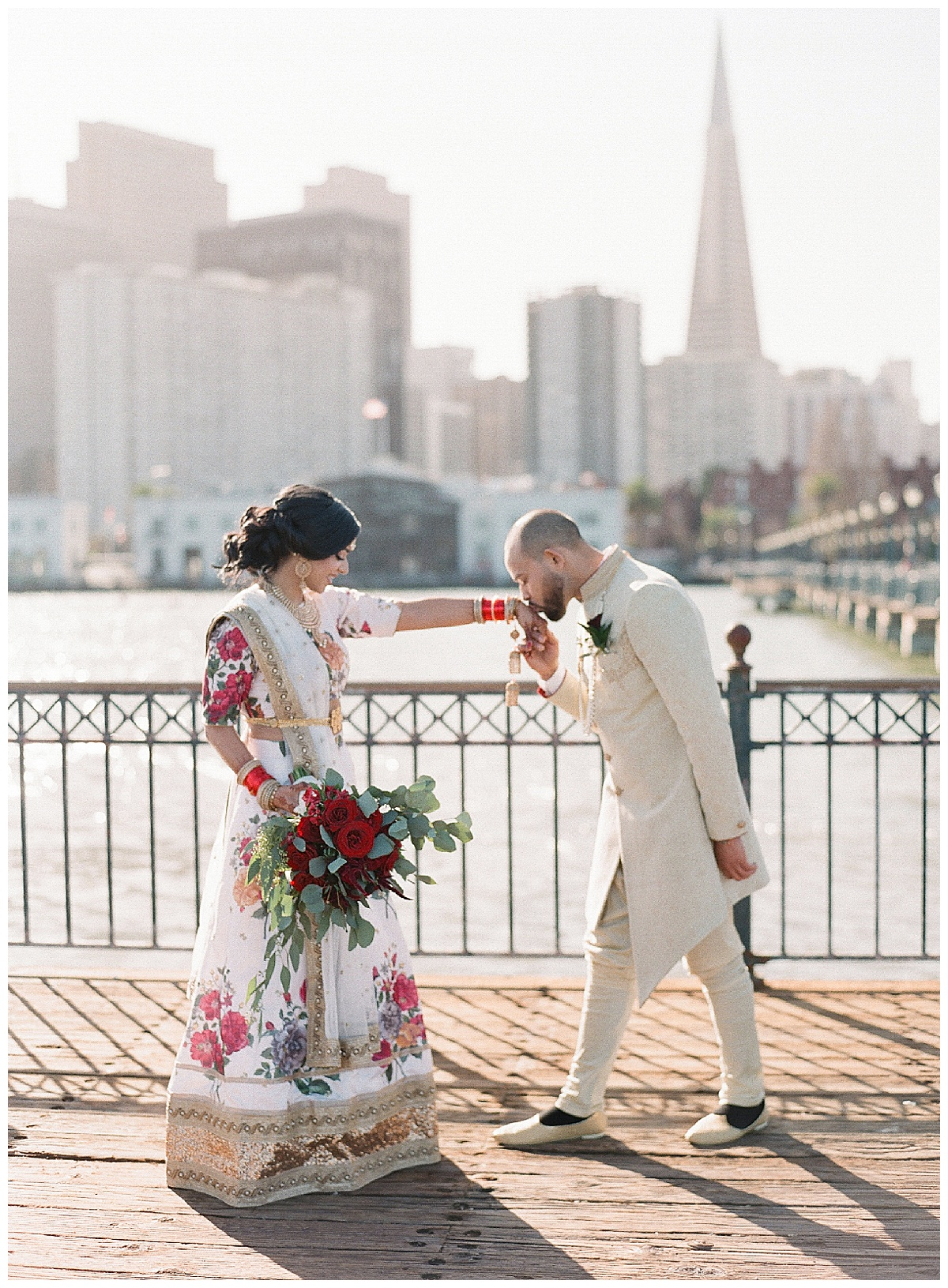 gorgeous couple eloping at the sf city Hall