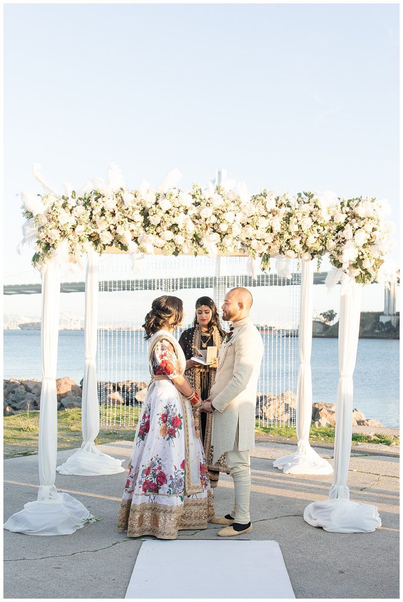 Traditional Indian wedding ceremony in treasure island