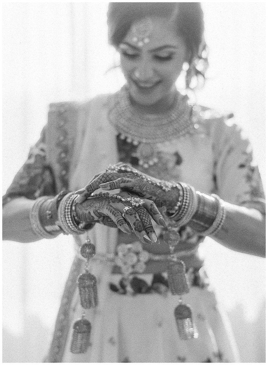 Indian henna beautiful hands black and white image