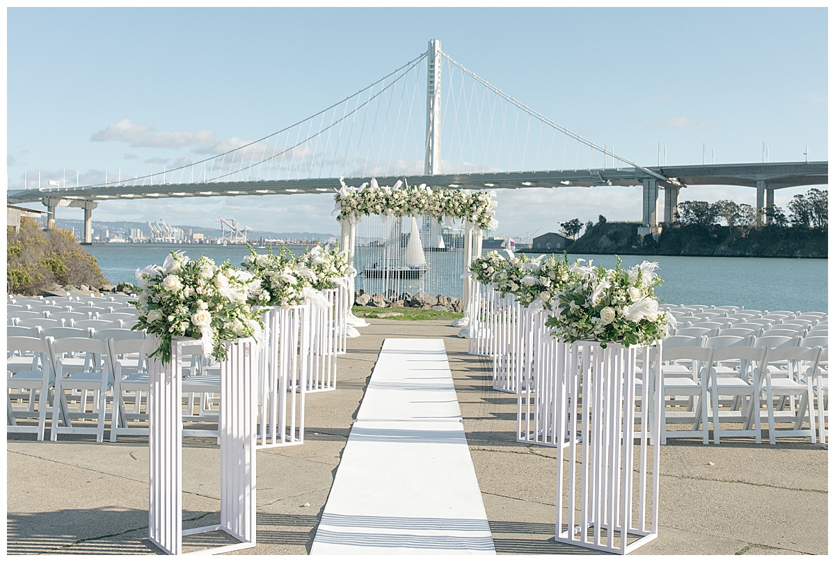 Treasure Island venue at the Winery with epic florals