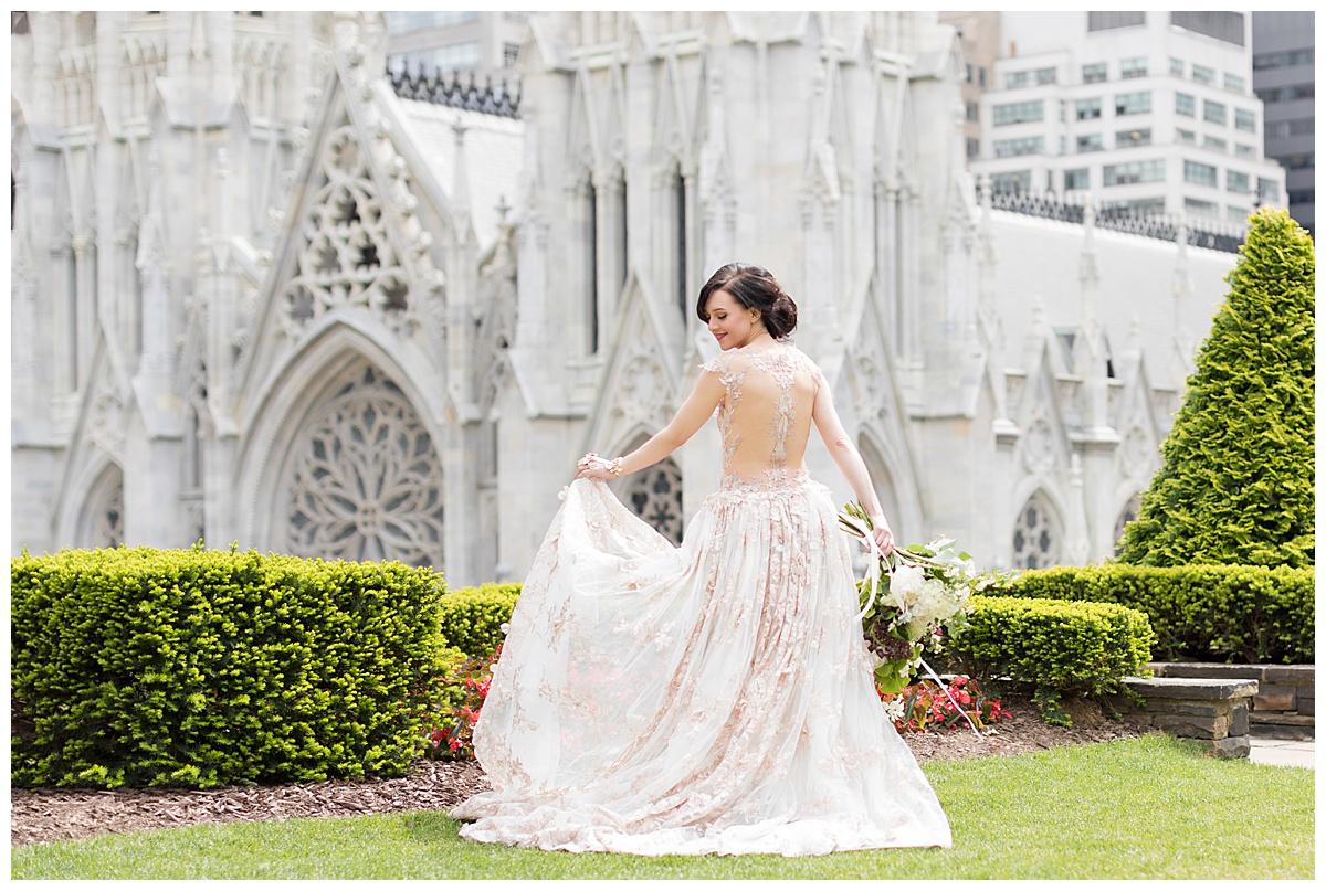 Lena Hall in Galia Lahav dress