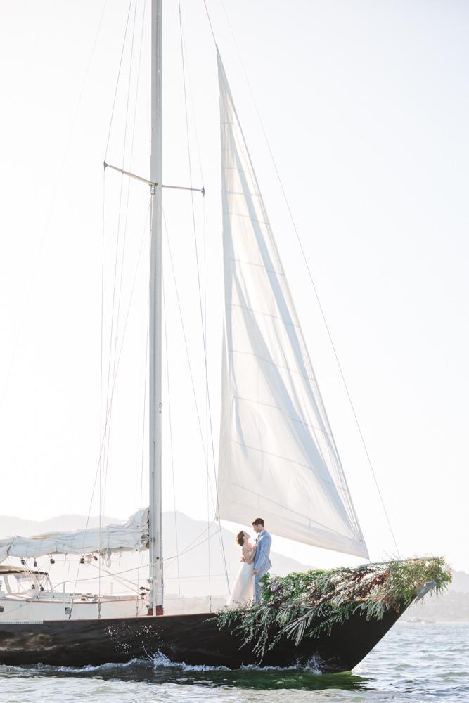incredible sailboat elopement