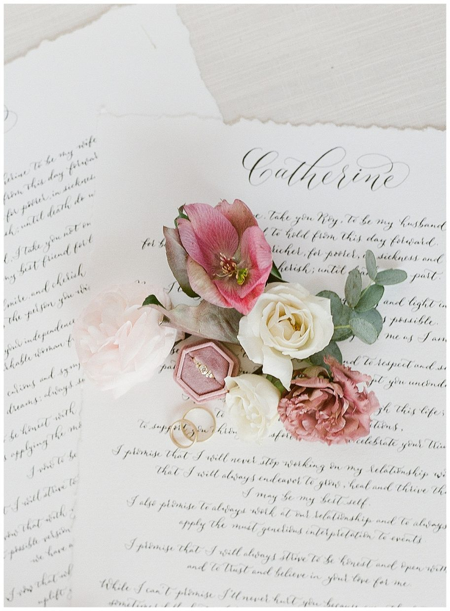 calligraphy vows